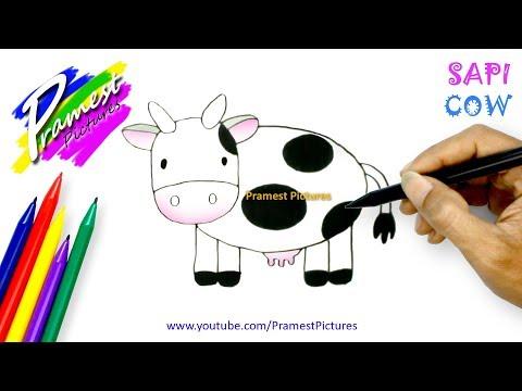 Sapi Belajar Menggambar Dan Mewarnai Hewan Untuk Anak видео с