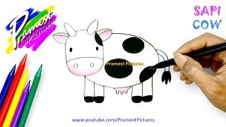 How To Draw a Cow - Animal Coloring Pages For Kids