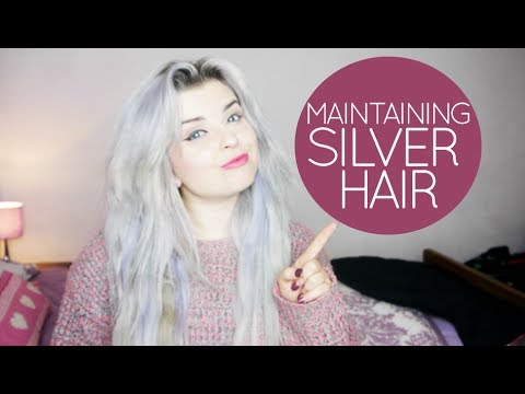 maintaining silver hair my hair routine youtube