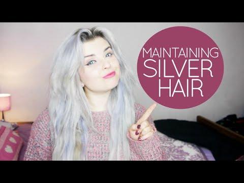 maintaining silver hair my hair routine youtube