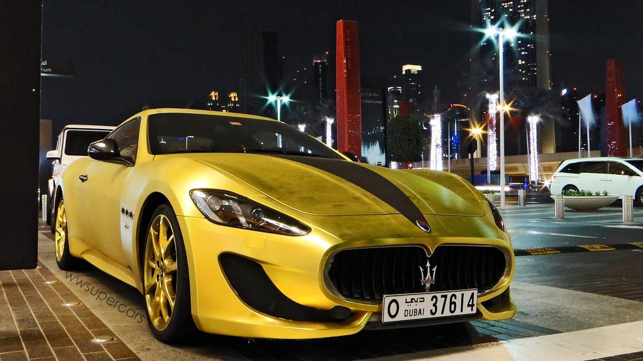 Maserati Granturismo R >> Matte Gold Maserati GranTurismo Sport 2013 in Dubai, UAE - YouTube