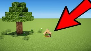 Minecraft: 1x6 Starter House Tutorial - How to Build the Smallest House in Minecraft