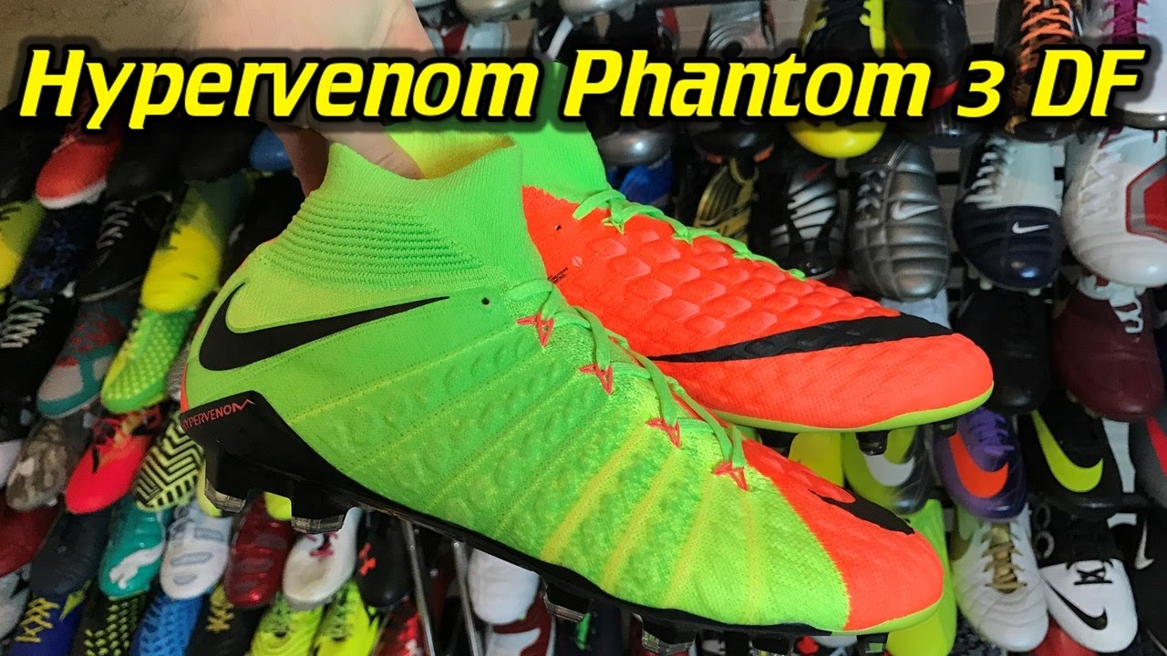 6414c839538d Nike Hypervenom Phantom 3 DF (Radiation Flare Pack) - One Take Review + On  Feet