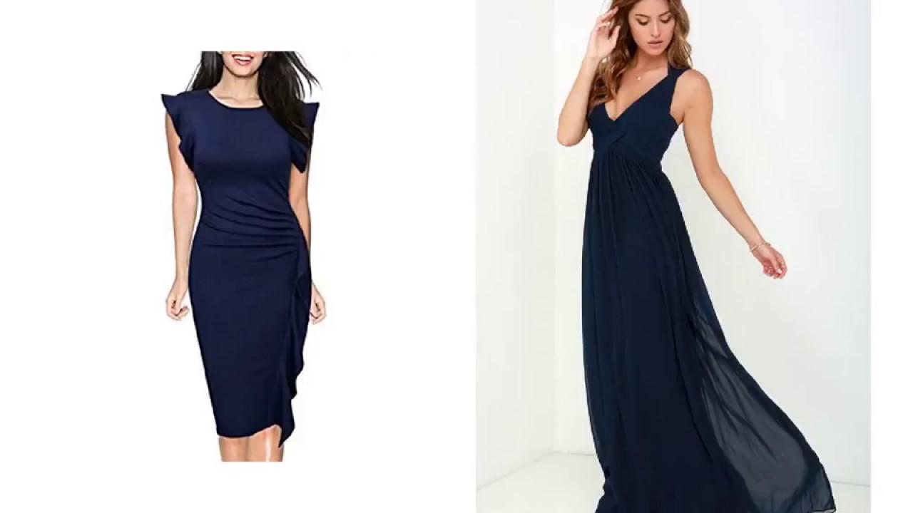 Navy Blue Dresses for Wedding - YouTube