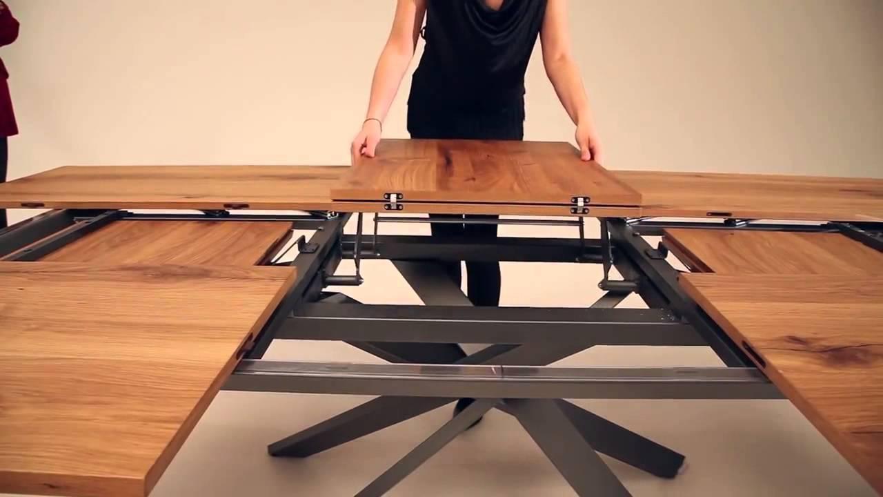 Mesa extensible 4x4 de ozzio design youtube - Comoda mesa extensible ...