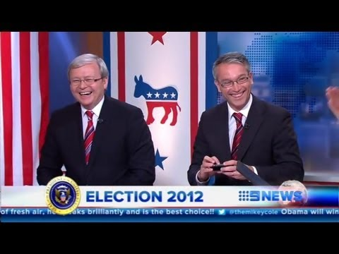 Kevin Rudd MP plugs Mike Kelly MP on USA Election coverage