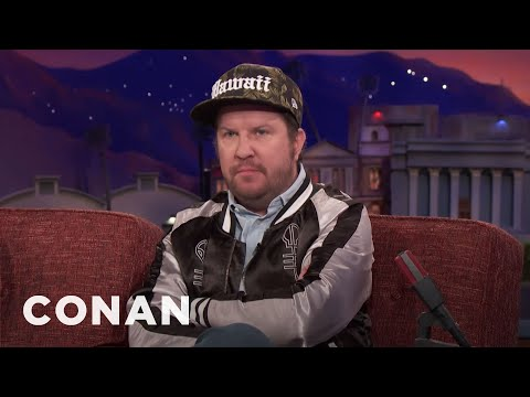 Nick Swardson Vomited Wheat Grass In The Street   CONAN on TBS
