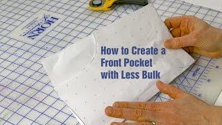 J Stern-Designs l so Erstellen Sie eine Tasche mit Weniger Bulk