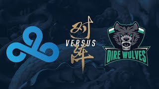 c9 vs dw   play in day 2   2017 world championship   cloud9 vs dire wolves