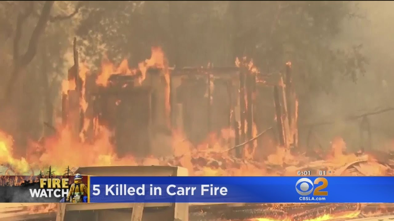 Carr Fire: 5 People Dead, At Least A Dozen Missing As Blaze Grows To 80K Acres