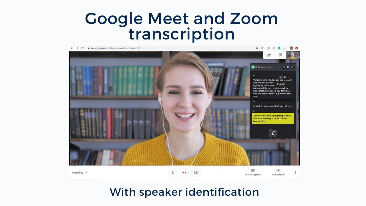 How to live transcribe Google Meet calls