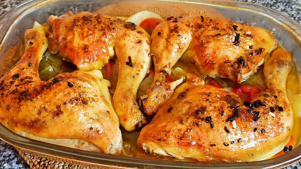 😋🍗 Riquísimo pollo al horno de la manera más sencílla 🍗😍| El Dulce Paladar