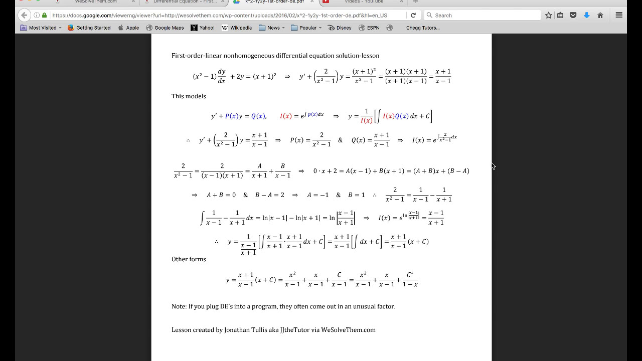 Mathway Dy Dx on