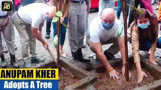 Anupam Kher steps out for a plantation drive🌳 to Make Earth Green Again @ Mega Vriksha Campaign