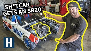Nissan Motor in a BMW?? Our $350 E36 Sh*tcar Gets a Turbo SR20