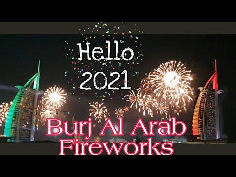BURJ AL ARAB FIREWORKS 2020