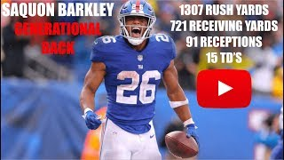 "Saquon Barkley ""Generational Back"" Ultimate Rookie Highlights"