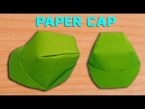 How To Make a Paper Cap - DIY Origami Hat Making Simple and Easy.