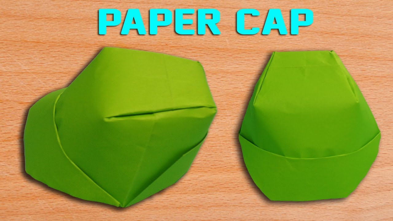 how to make a paper cap diy origami hat making simple