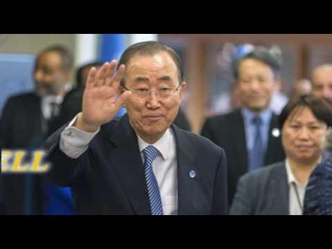 UN chief Ban Ki moon bids colleagues, staff farewell