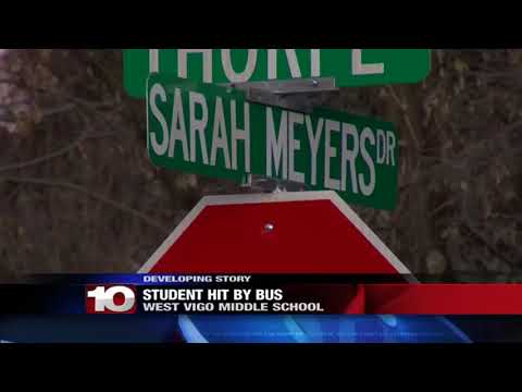 West Vigo Middle School student hospitalized after getting hit by a school bus