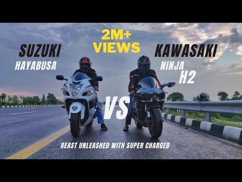 Kawasaki Ninja H2 Vs Suzuki Hayabusa Comparison | First Ninja H2 In Lucknow | Ksc Vlogs