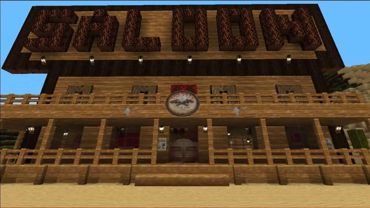 minecraft wild west saloon youtube. Black Bedroom Furniture Sets. Home Design Ideas