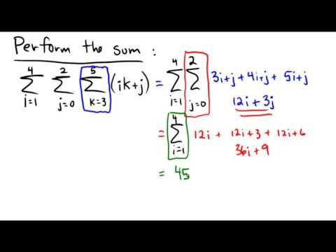 Performing a triple sum - YouTube
