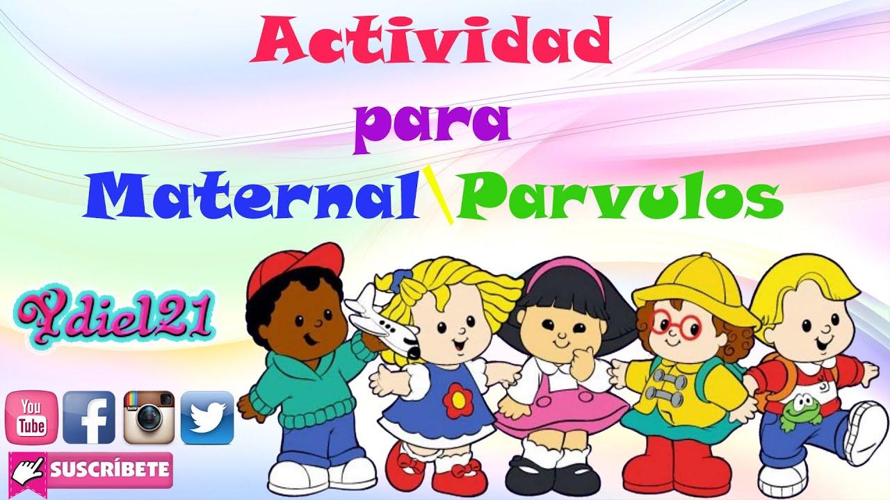 Actividad para maternal o parvulos preescolar youtube for Actividades para jardin maternal sala de 2