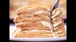 Рецепт медового торта со сметанным кремом | Как приготовить медовый торт дома