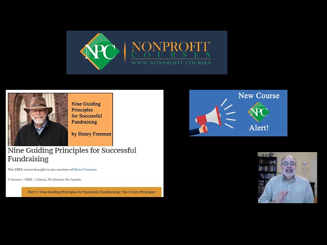New Course Alert: Nine Guiding Principles for Successful Fundraising