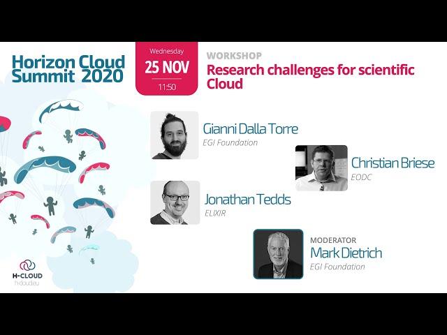 EGI workshop: Research challenges for scientific Cloud