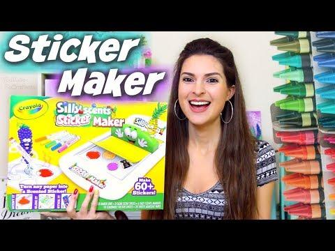 Testing CRAYOLA STICKER MAKER Craft Kit