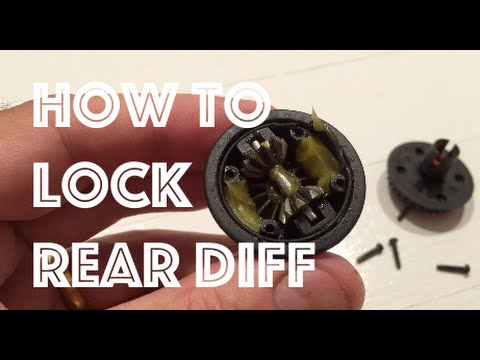 HPI Sprint 2 Drift Mods Part 3 ❤ How To Lock Rear Diff On RC Car