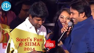 Soori Makes Funny Comments with Shiva || Tamil SIIMA 2014
