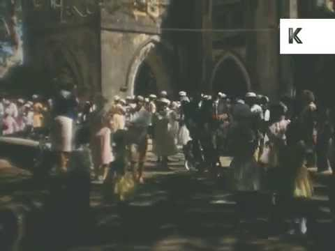 1950s, 1960s Jamaica, Sunday, People Outside Church, Rare Caribbean Home Movies