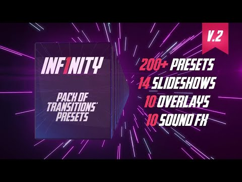 Inf1nity. Pack Of Transitions' Presets Premiere Pro Templates V2 Vip