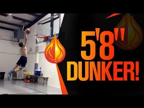 HIS FIRST DUNK! Skinny 5'8