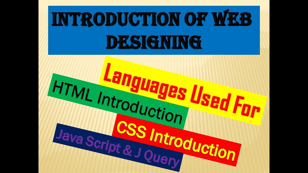 What Is Web Design And What Is Html Languages Used To Design A Web Page Complete Introduction Youtube