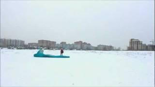 Обучение полетам на параплане. Пробежки с парапланом по полю. ЛТК Воздушный конь