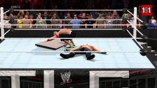TLC 2014  John Cena vs Seth Rollins   Table Match!