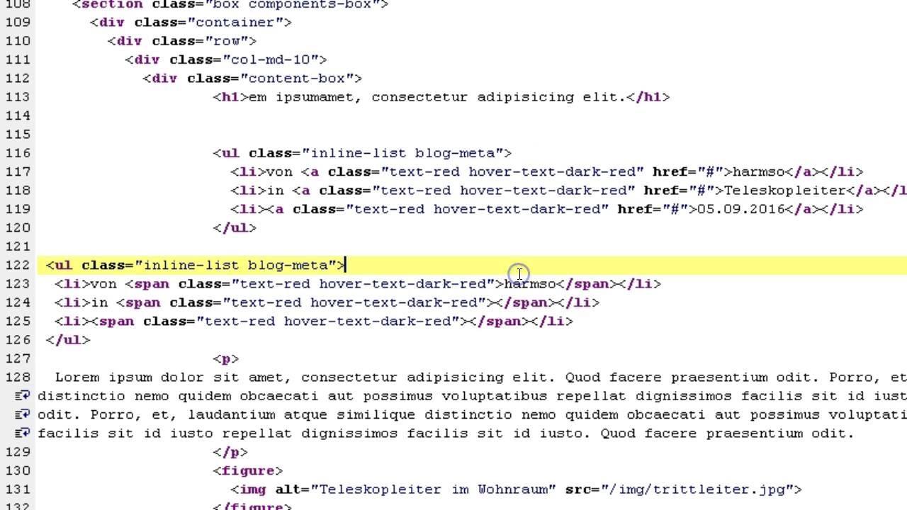 Editor PSPad: Vorlage für Website HTML/CSS - Teil 2 - YouTube