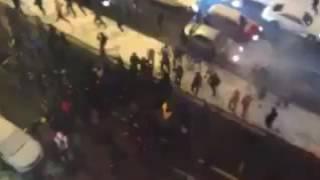 Драка футбольных фанатов в Киеве 6 декабря