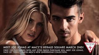 Meet JOE JONAS at Macy's Herald Square on March 2nd | #LoveGUESS