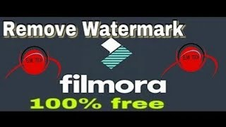 How to  remove the filmora watermark free 2018 | English | India | video editing software
