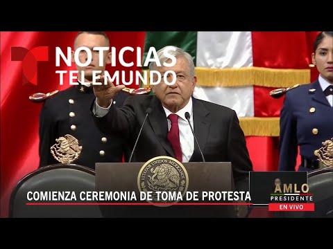 AMLO pronuncia juramento como Presidente de México | Noticias Telemundo
