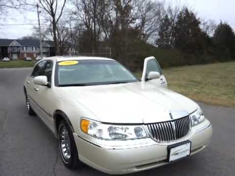 Sold 2001 Lincoln Towncar Cartier Edition Ivory Parchment Low Miles