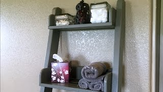 How to Build a Leaning Wall Shelf