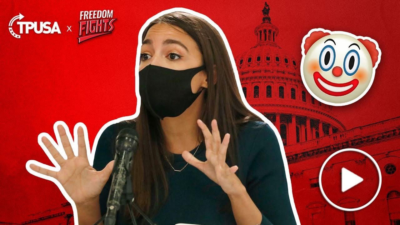 Political Theatre Actress AOC Puts On A Mask For Photo-Op