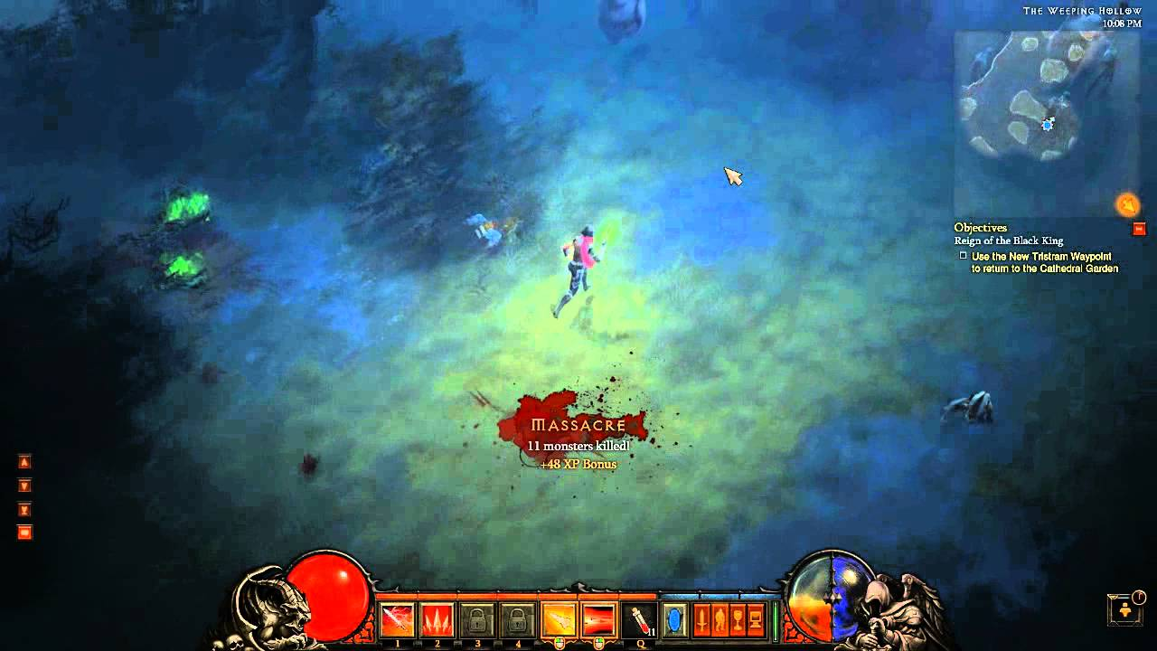 Diablo 3 - Demon Hunter Gameplay - Inferno Skills & Gear